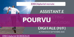 POURVU - Assistant.e en Marketing & Communication Digitale (H/F) en contrat d'alternance septembre 2020 - Agence de Bordeaux